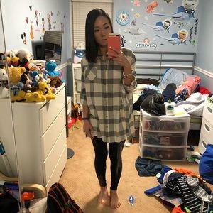 NWOT! KAITLYN Checkered oversized shirt dress